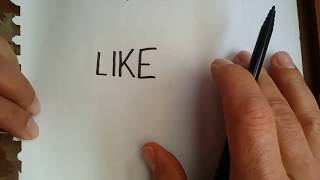 LIKE YAZARAK LIKE ÇİZ ! / wordtoon : Like