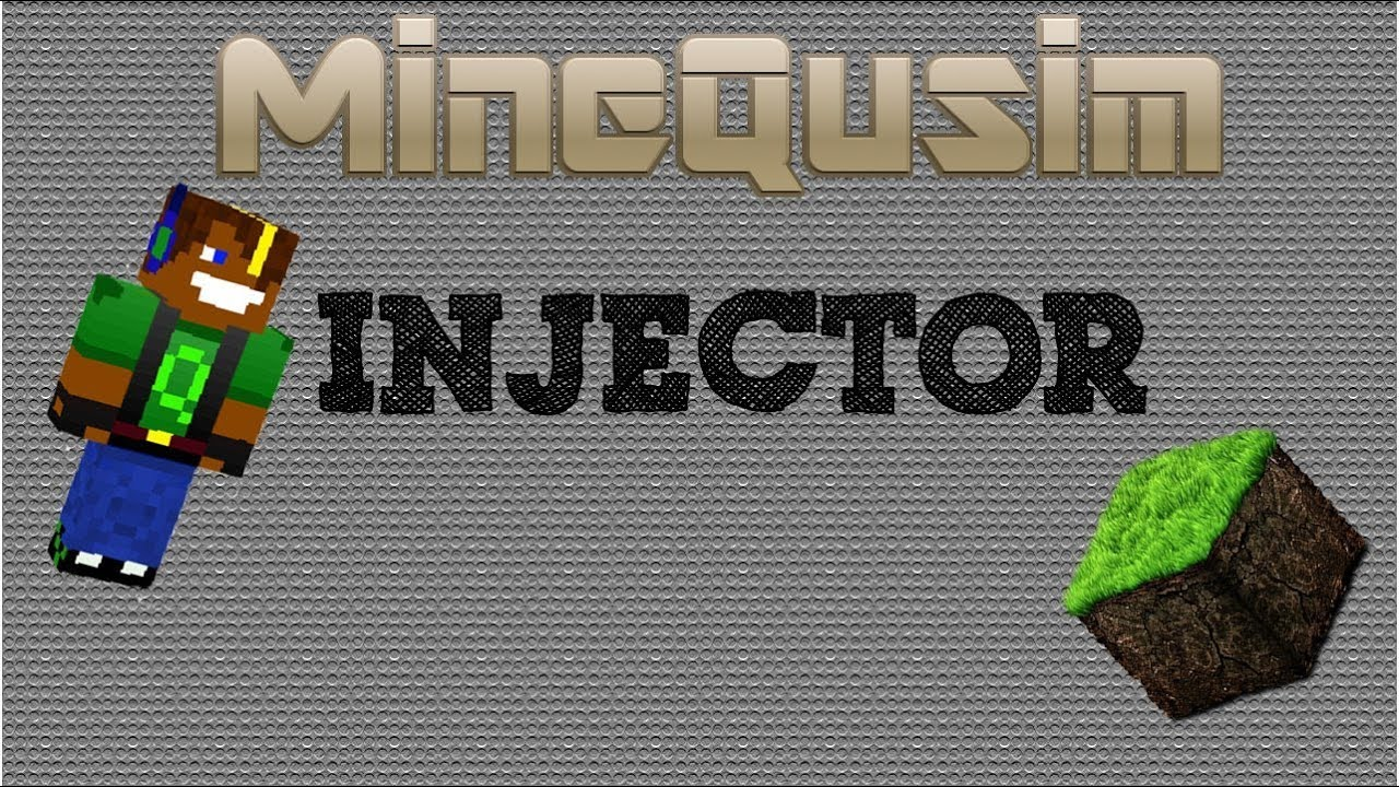 how to make a injector minecraft