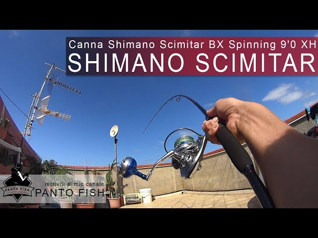 "Unboxing e prime impressioni canna Shimano Scimitar BX Spinning 9'0"" 28 84 XH"