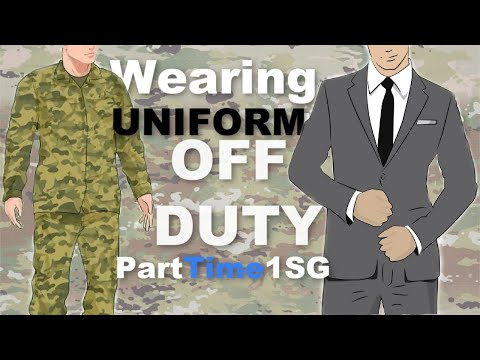 Uniform Off Duty - Looking Up Regulations - Army National Guard