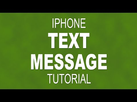 How to text message on an iPhone