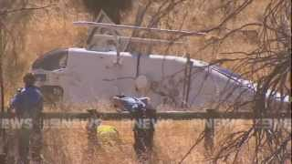 Raw footage: Channel 10 Helicopter crash | 9 News Perth