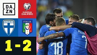 Immobile & Jorginho schießen Italien zum Sieg: Finnland - Italien 1:2 | EM-Quali | DAZN Highlights