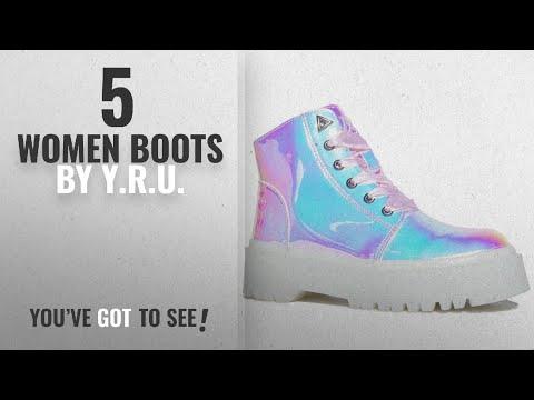 Top 10 Y.R.U. Women Boots [2018]: YRU Slayr Atlantis, Combat Boot, 7