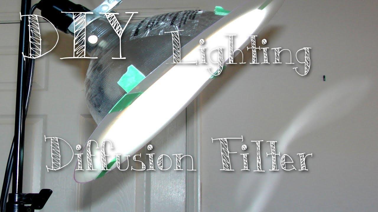 DIY lighting diffuser, video, photography