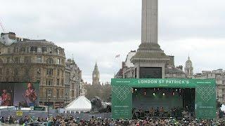Trafalgar Square London  St Patrick's Day Parade Event
