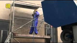 Odnawianie fasady domu przy użyciu urządzenia 500th Viskor