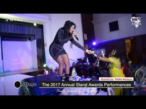 On Stage:  Desire Luzinda  Live Performance at 2017 Annual starqt Awards