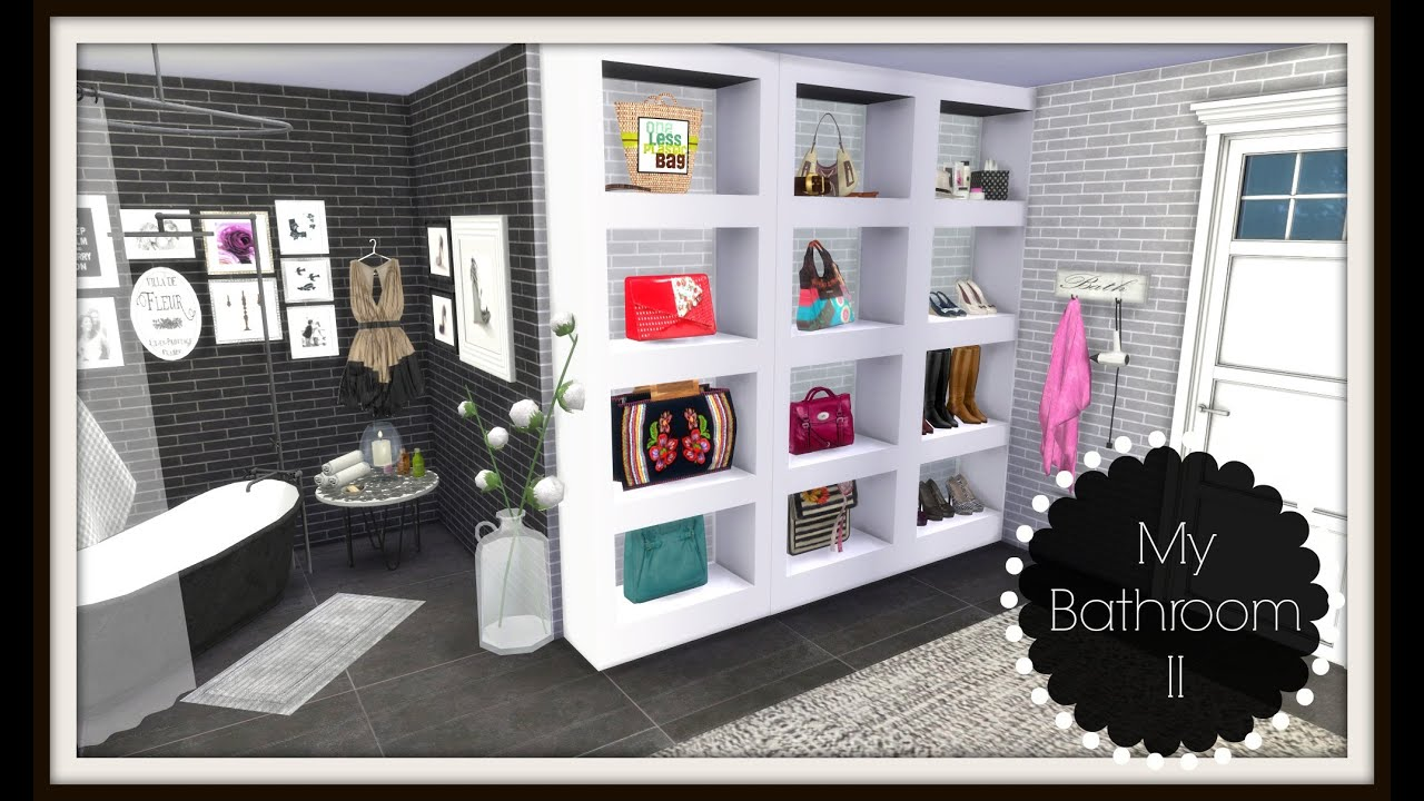 How To Declutter Bedroom Sims 4 Speed Build Bathroom Ii Youtube