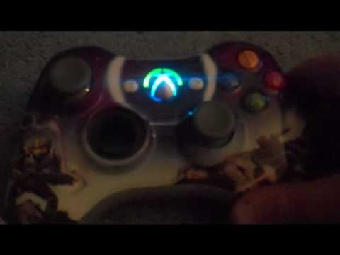 Xbox 360 Controller Mod Blue Light Up Guide Button Youtube