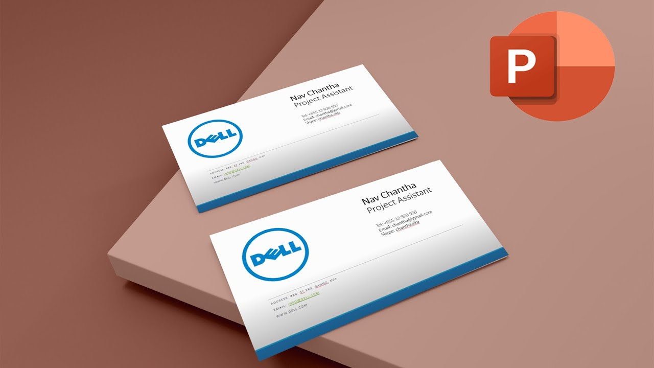 How to Make Business Cards with Microsoft PowerPoint - YouTube