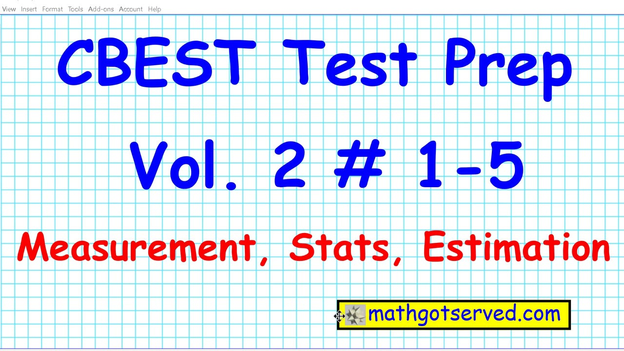 Cbest Math Practice Test 1 To 10 Solutions Exam Pass Website Locations Mathgotserved Youtube