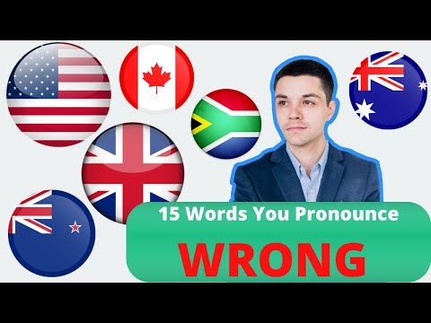 15 English Words That You Pronounce INCORRECTLY | American English Pronunciation