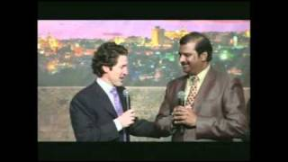 Dr. Paul Dhinakaran with Pastor Joel Osteen