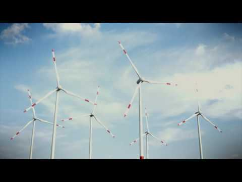 Wind Turbine Moving to Generate Energy | 4K Relaxing Screensaver
