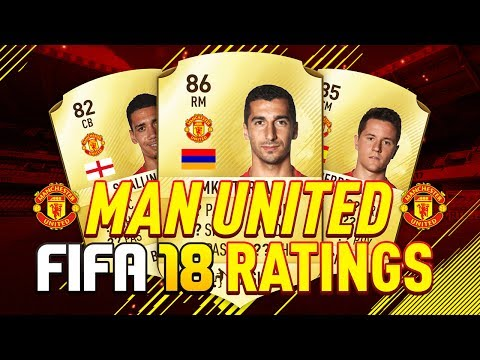 FIFA 18 - MANCHESTER UNITED RATINGS