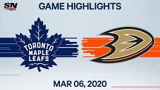 NHL Highlights   Maple Leafs vs. Ducks – Mar. 6, 2020