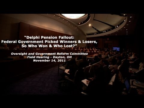 """Delphi Pension Fallout: Federal Gov't Picked Winners & Losers, So Who Won & Who Lost?"" Panel 3"