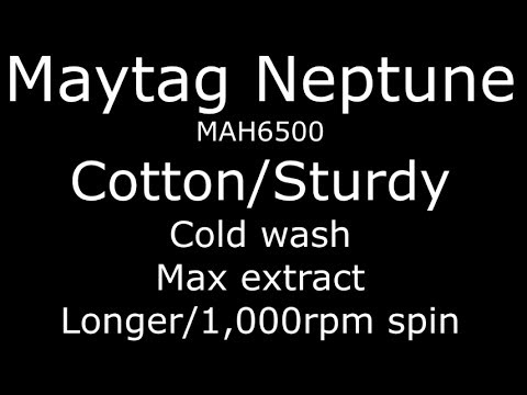 Maytag Neptune Cotton Sturdy cycle