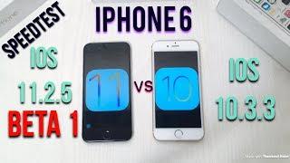 iOS 11.2.5 Beta vs iOS 10.3.3 iPhone 6 Speedtest