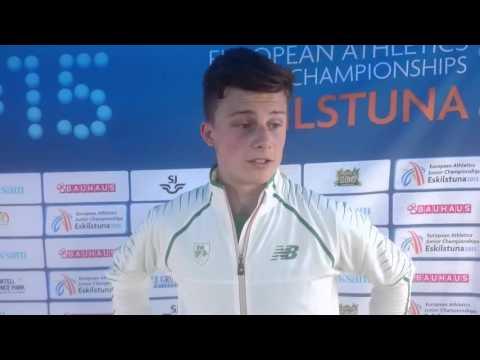 Matthew Behan 12th In European Juniors 110H