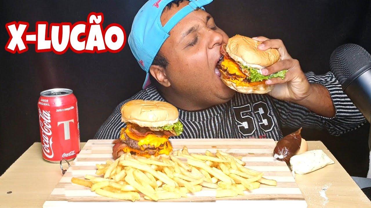 """DETONEI O X-LUCÃO !!! 🍔🍟🥤 """"criaram um sanduíche exclusivo pra mim 😍😍😍"""""""