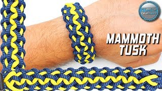 How to make Paracord Bracelet Mammoth Tusk World of Paracord DIY Paracord Bracelet Tutorial