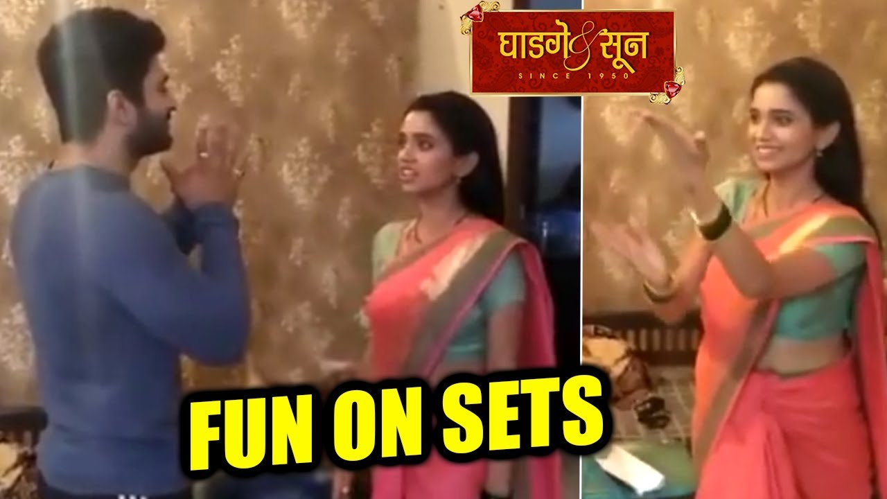 Ghadge & Suun | Actor Chinmay Udgirkar & Bhagyashree Limaye Having Fun On  Sets | Colors Marathi