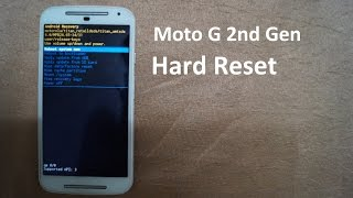 Moto G2 Hard Reset