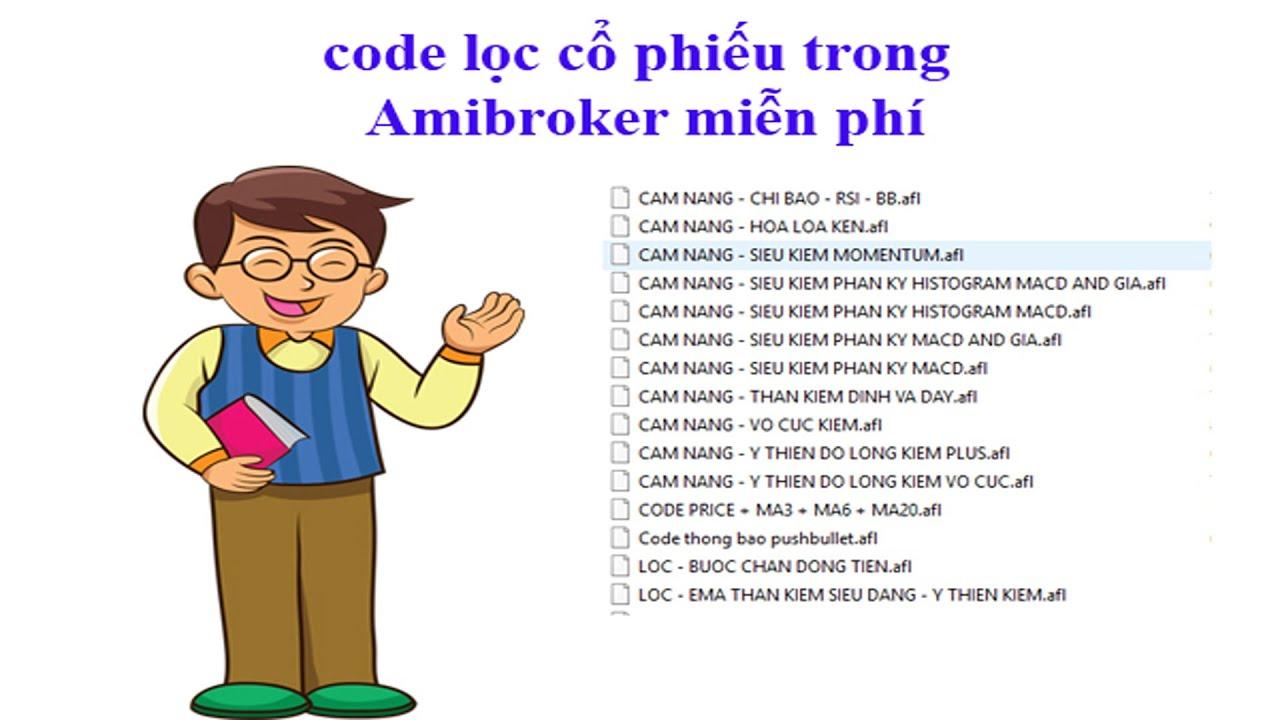 Code lọc cổ phiếu trong amibroker miễn phí
