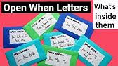 Open When Letters Ideas öffnen Wenn Briefe Ideen Youtube