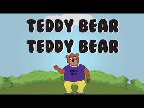Teddy Bear Teddy Bear Turn Around (with Lyrics) | Animated Nursery Rhyme
