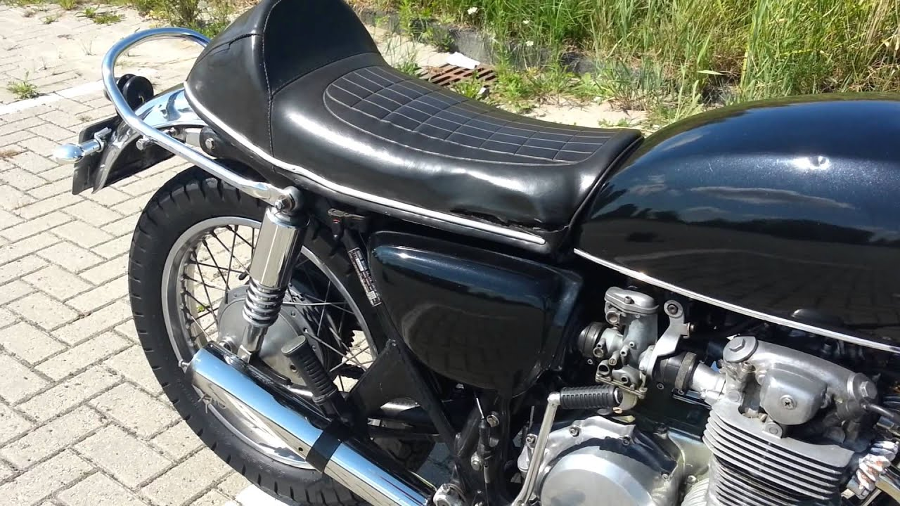 1976 Honda CB500 Four with Marving Exhaust - YouTube