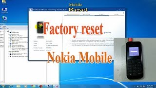 How to Factory Reset Nokia Mobile with Nokia Software Recovery Tool 8.1.25.