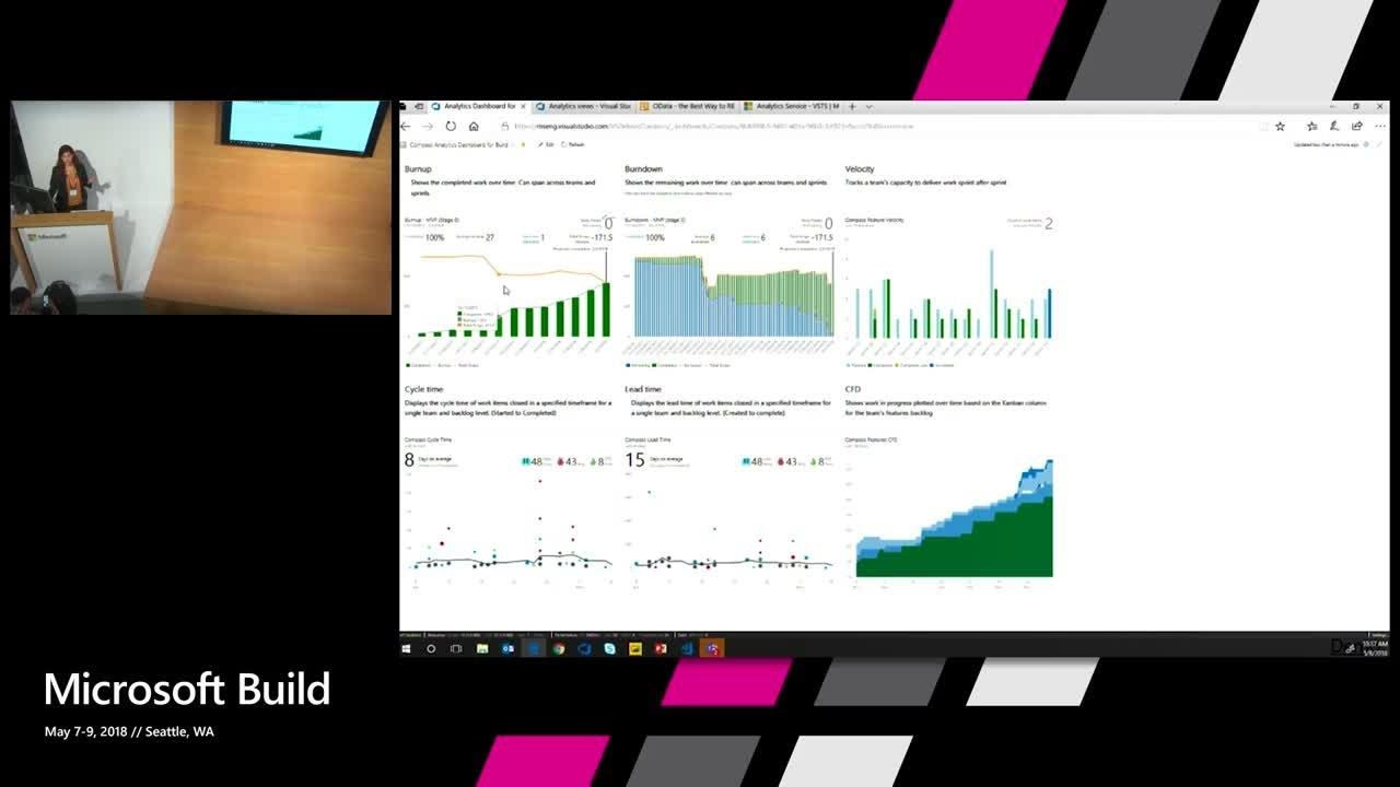 Analyze and report on your work using the new VSTS analytics service :  Build 2018