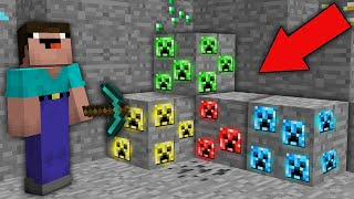 Minecraft NOOB vs PRO: NOOB MINED RAREST CREEPER ORE IN MINE! Challenge 100% trolling