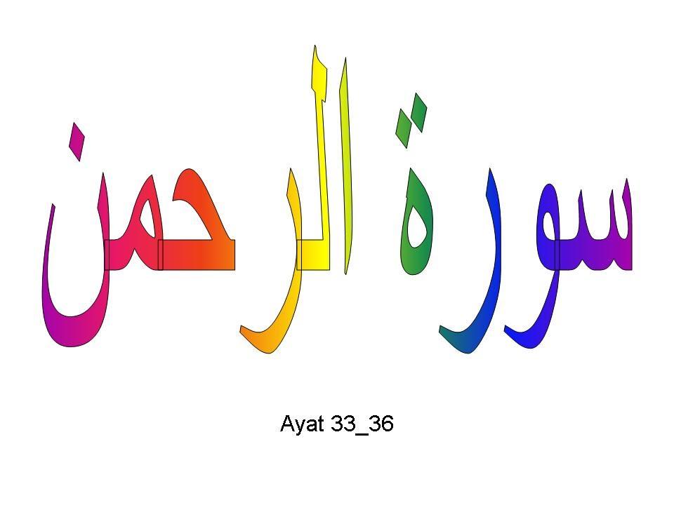 Qs Ar Rahmaan Yang Maha Pemurah Surah 55 Ayat 36 Qs