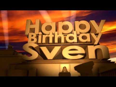 Happy Birthday Sven Youtube
