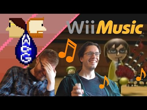 Two Guys Lose It While Playing Wii Music