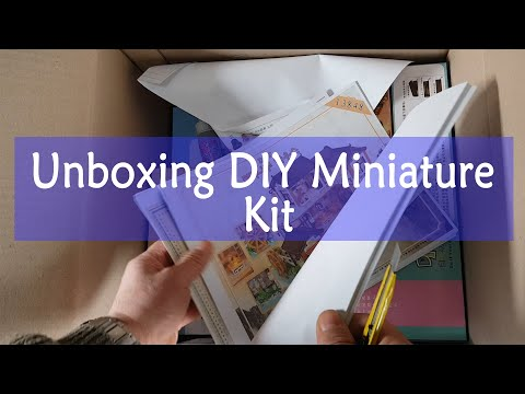 Unboxing DIY Miniature house Kit (4)(언박싱) | 미니어처 | 미니어처하우스