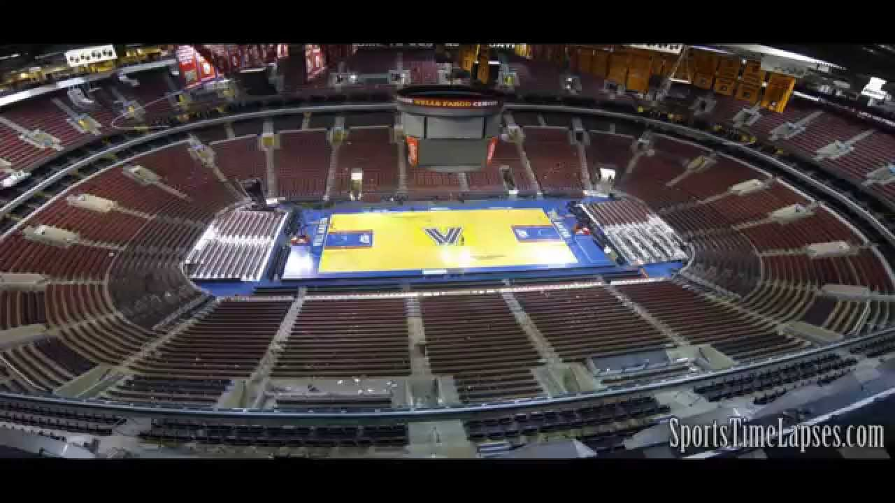 sportstimelapses com wells fargo center 4 different events youtube