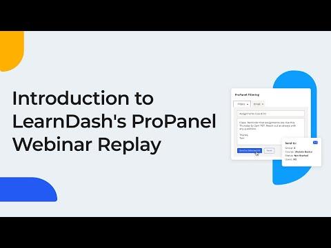 ProPanel and LearnDash