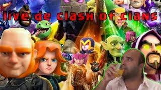 LIVE DE CLASH OF CLANS #RUMO400SUBS