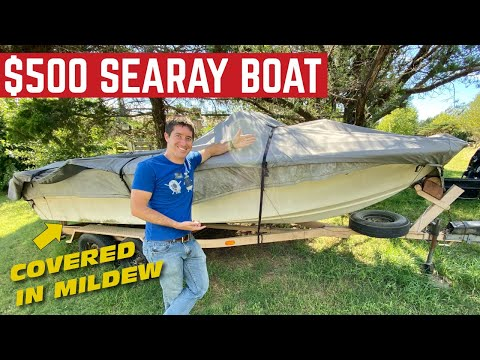 I BOUGHT A SeaRay BOAT For $500 *It Sat For The Last 10 Years*