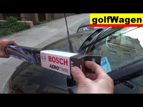 Citroen wipers to the service position and how to change wipers Bosch aerotwin