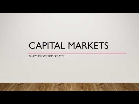 Capital Markets: An Overview from Scratch
