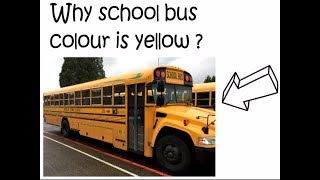 WHY SCHOOL BUS COLOUR IS YELLOW ||| INTERESTING FUNNY FACTS