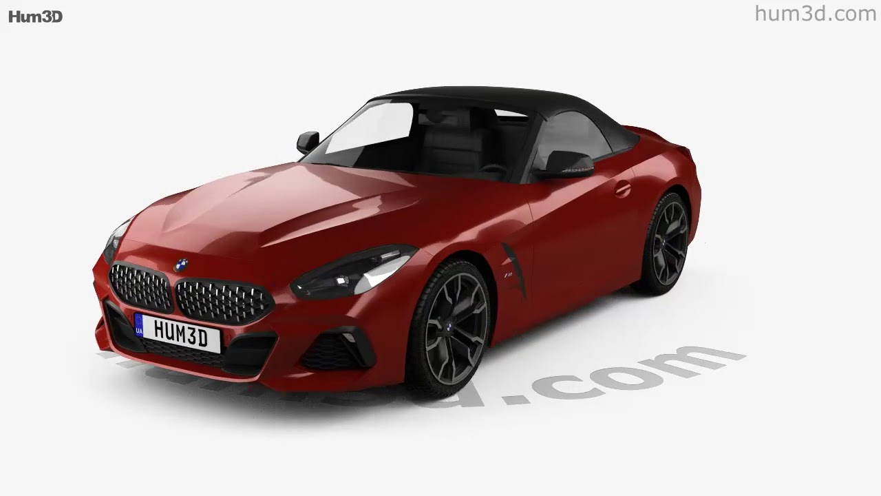 Bmw Z4 M40i G29 First Edition Roadster 2019 3d Model By Hum3d Com