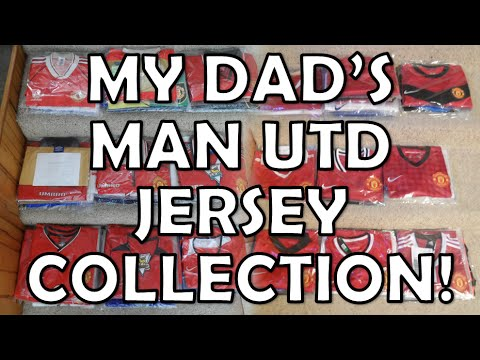 buy popular 1c7ab e59e8 My Dad's Manchester United Jersey Collection!