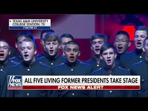 The Texas A&M University Singing Cadets kicked off One America Appeal..